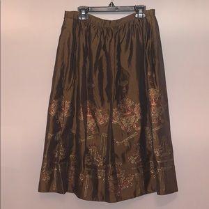 Herve Leger Brown Metallic Skirt